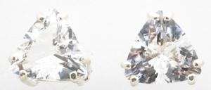 Casa Crystals & Jewelry Earings, 7mm Trilliant Crystals