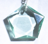 Casa Crystals & Jewelry Pendant, Pentagon Green Obsidian Crystals