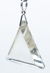 Casa Crystals & Jewelry Pendant, Triangle Clear Crystals