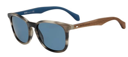 Image of 0843/S Sunglasses, Horn Brown Blue
