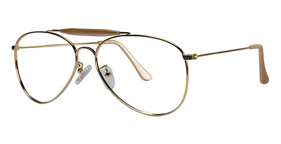 MacArthur II Eyeglasses, Gold