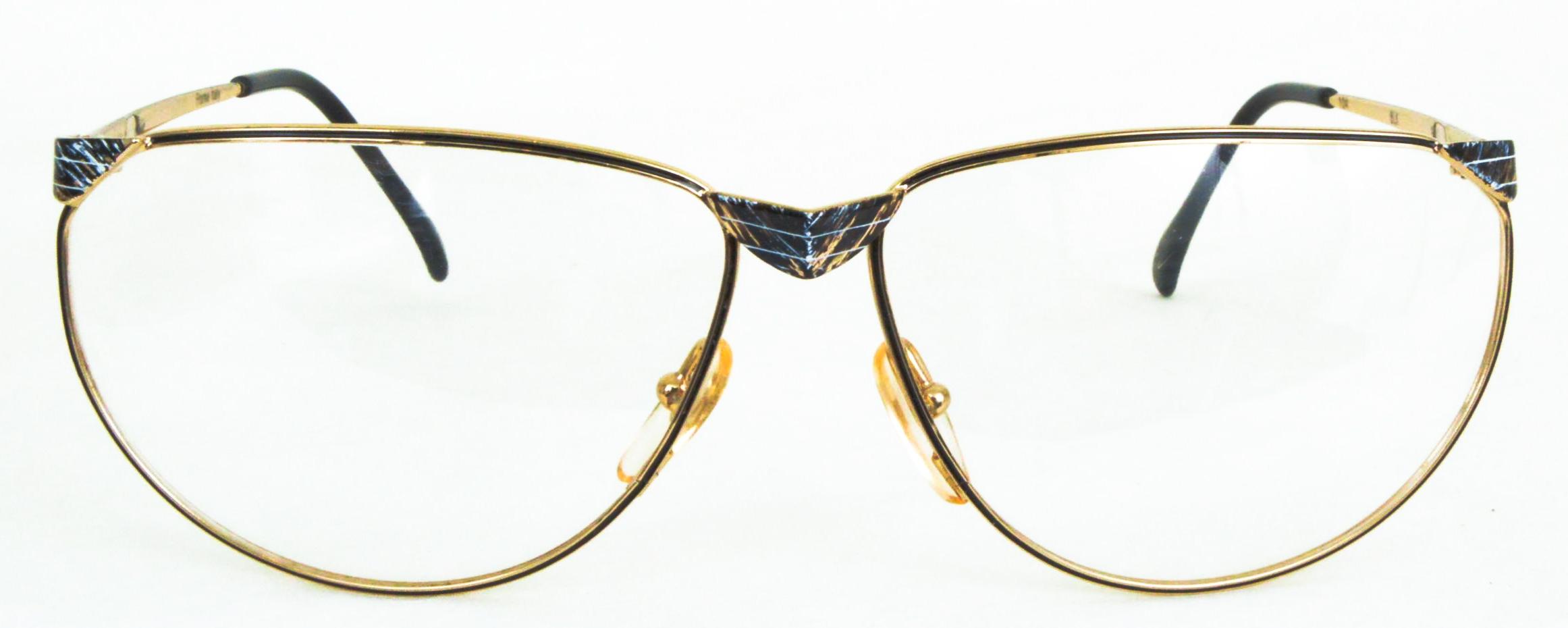 Image of 104 Eyeglasses, Black/Shiny Gold