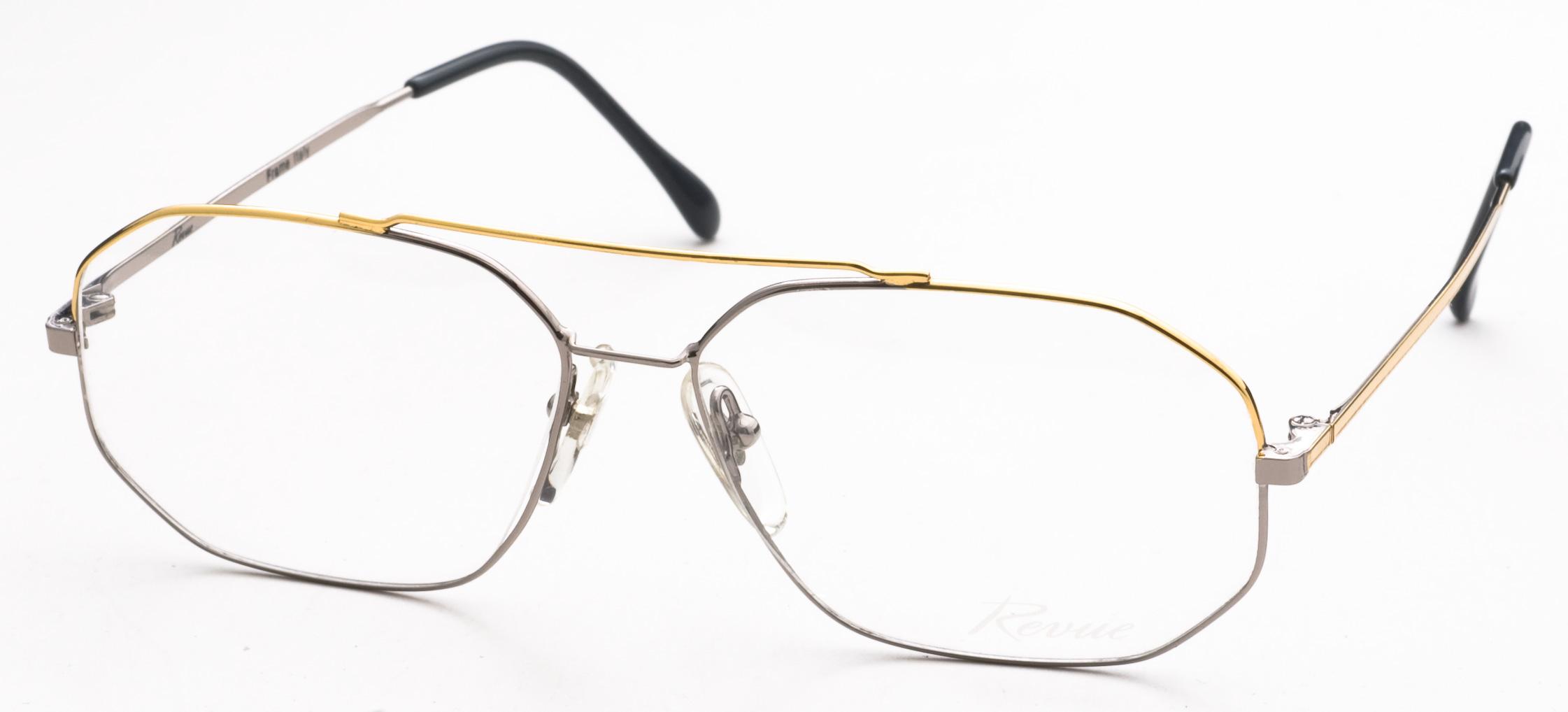 Image of 111 Eyeglasses, Pewter/Gold