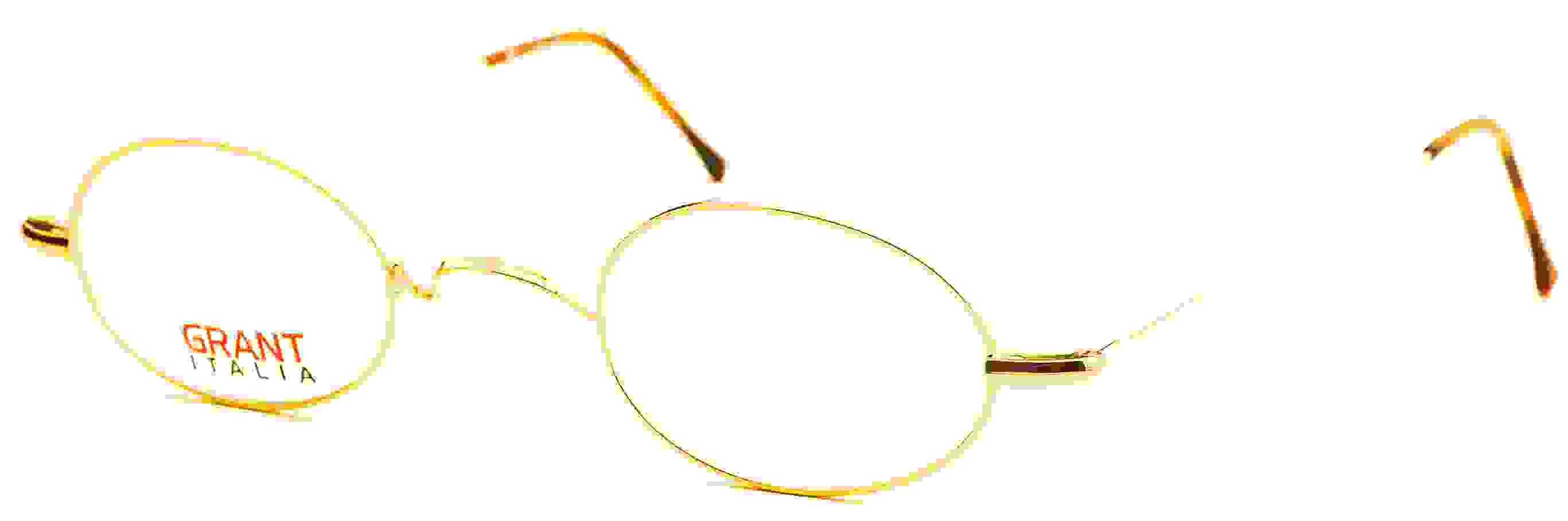 115 Oval Eyeglasses, Shiny Gold