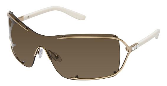 Image of 001 Sunglasses, SEMI MATTE GLD W/CRYSTAL
