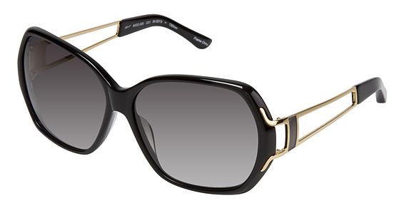 Image of 003 Sunglasses, BLACK W/GLD BLK ENAMEL