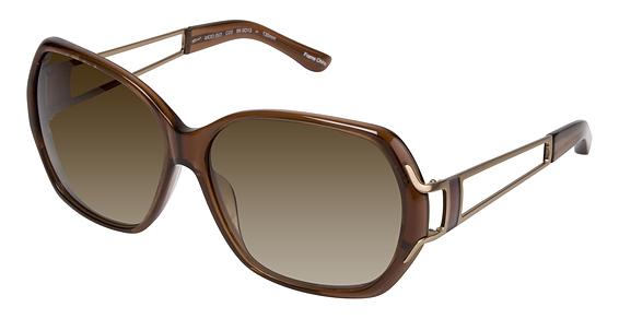 Image of 003 Sunglasses, BROWN TRANS/W DK GLD/BRN ENAM