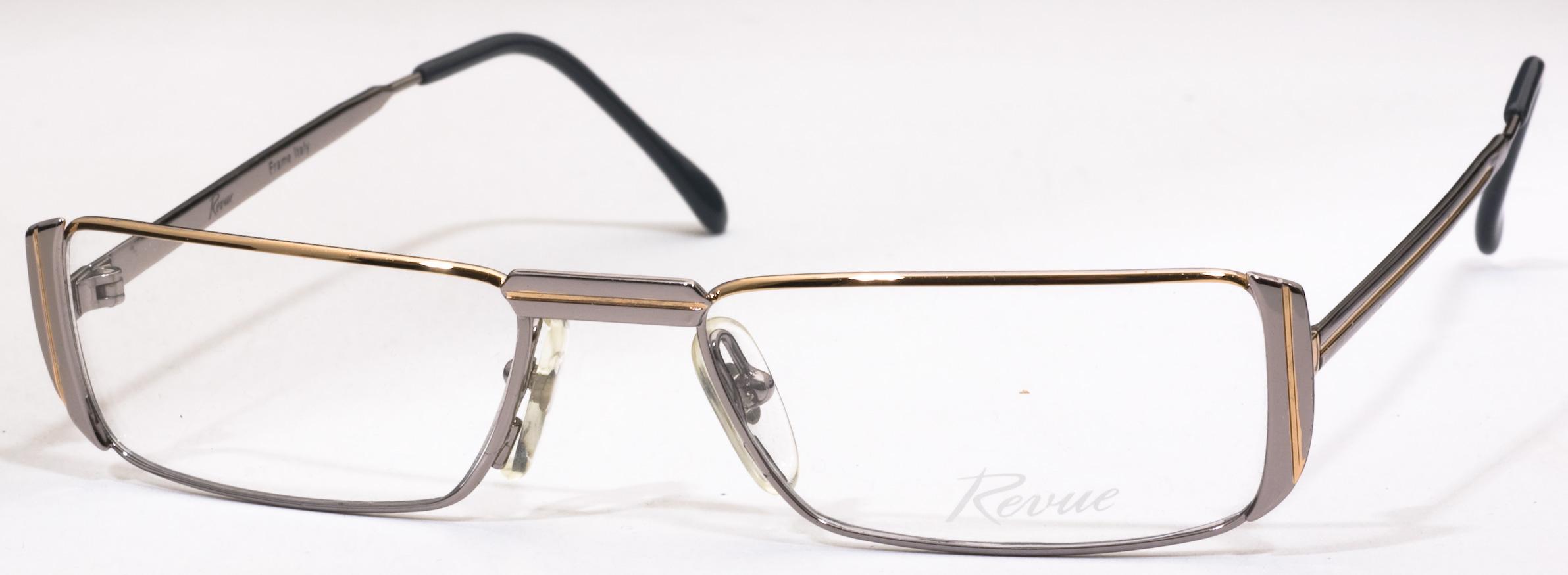 Image of 166 Eyeglasses, Shiny Gold/Shiny Rhodium