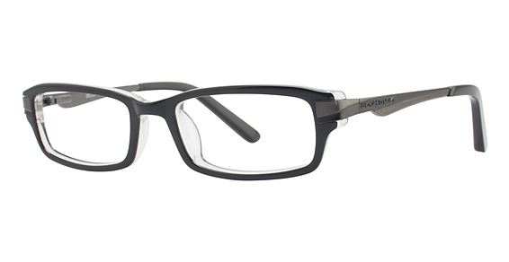 Image of BB 120 Eyeglasses, Black/Crystal with Gunmetal Temples