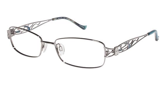 R 103 Eyeglasses, Gun with Teal Enamel