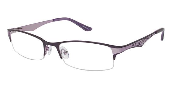 Image of Vision's 199 Eyeglasses, Matte Eggplant / Light Purple