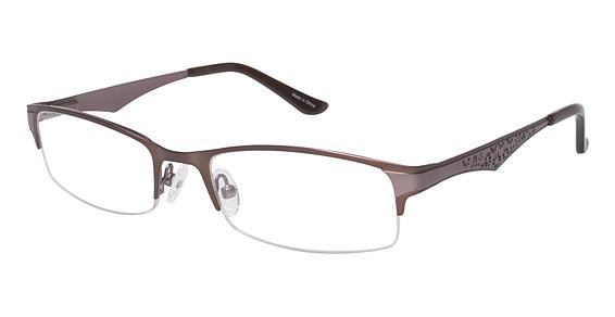 Image of Vision's 199 Eyeglasses, Matte Brown / Light Pink