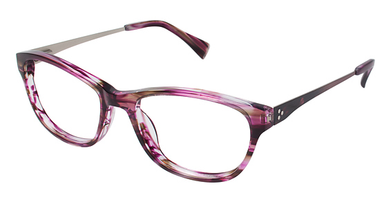 CT 51 Eyeglasses, Burgundy Horn