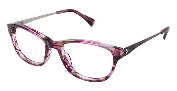 CT 51 Eyeglasses, Burgundy Horn