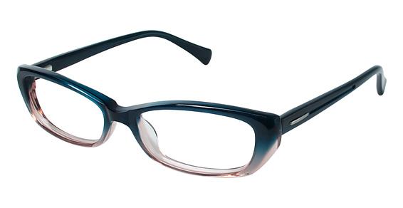 CT 50 Eyeglasses, Blue/Tan