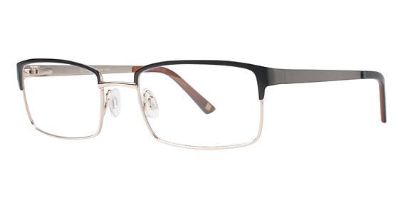 Randy Jackson 1050 Eyeglasses, Black/Gold