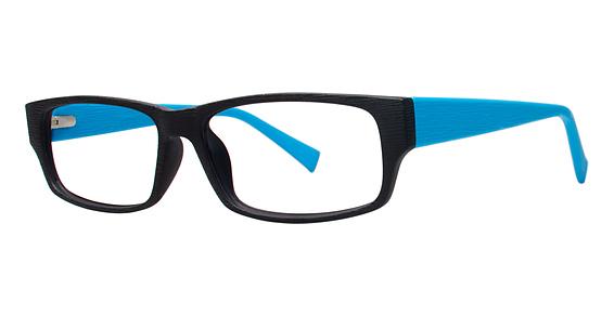Harvest Eyeglasses, Black/Blue