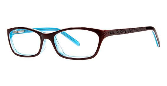 10x 236 Eyeglasses, brown/turquoise/crystal