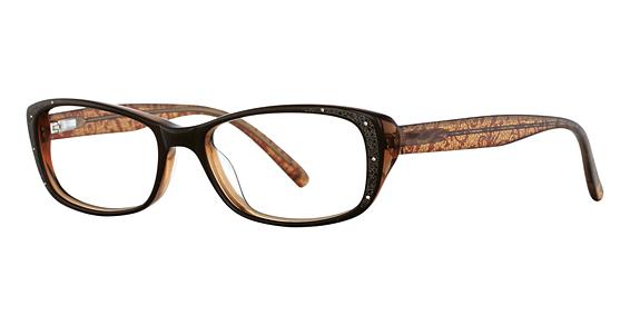 Lotus Eyeglasses, Brown Lace