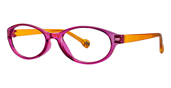 R 402 Eyeglasses, PURPLE/YELLOW