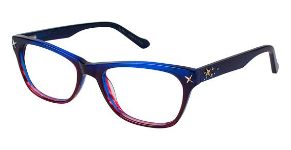 Front Eyeglasses, Blue/Red