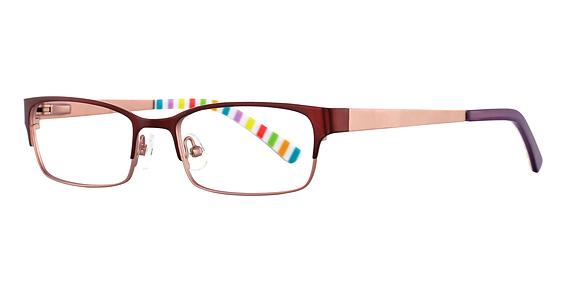 Sophia Eyeglasses, Burgundy Blush