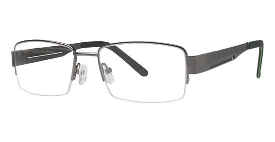 Blu 123 Eyeglasses, SATIN GUN/OLIVE