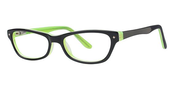 Rainbow Eyeglasses, Black/Lime