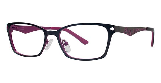 10x 237 Eyeglasses, MATTE BLACK/FUCHSIA