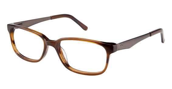 Liberty Park Eyeglasses, Brown Horn