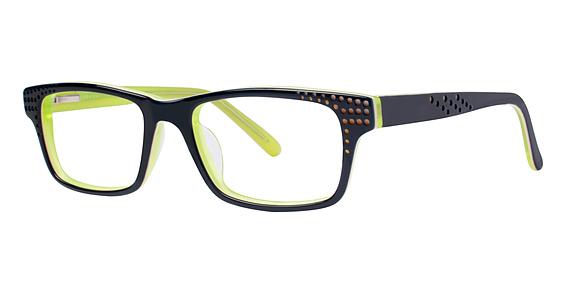 10x 240 Eyeglasses, navy/lemon