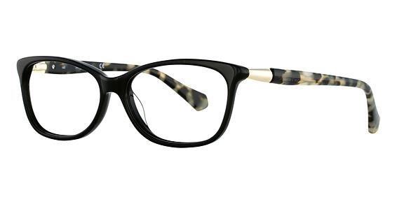 Image of KC 0212 Eyeglasses, Colored Havana/Dark Crystal Brown