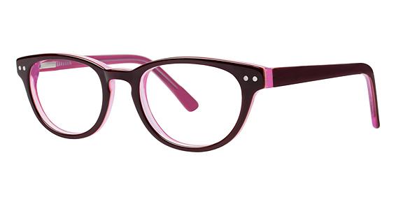10x 239 Eyeglasses, Burgundy/Pink