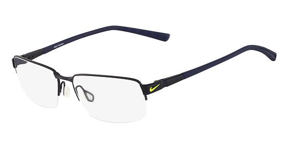 Nike 6053 Eyeglasses, (402) Satin Blue/Obsidian