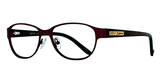Betsey Johnson Diva Eyeglasses, Burgundy