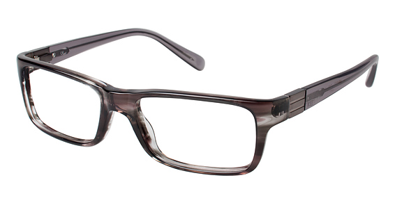 4177 Eyeglasses, Grey Horn