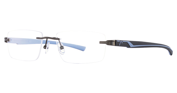 Head 815 Eyeglasses, C3 GUN/WHITE