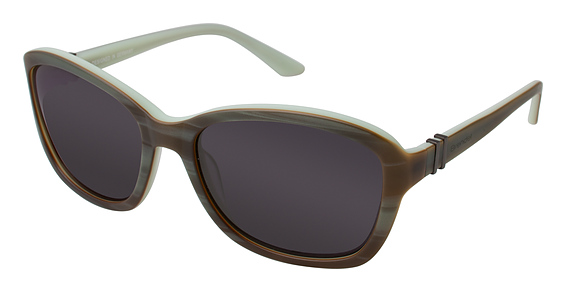 916019 Sunglasses, Green Horn