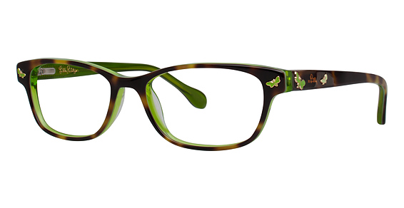 Sandrine Eyeglasses, Tortoise Lime