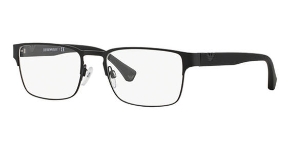 Image of EA 1027 Eyeglasses, Matte Black