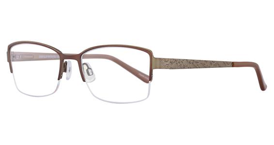 EC 370 Eyeglasses, Shiny Black & Gold