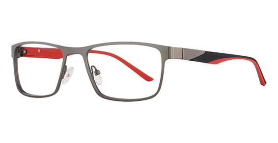 Image of AIRMAG A 6241 Sunglasses, Gun/Red