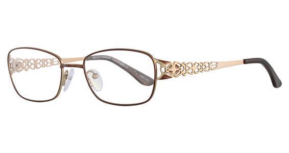 EC 381 Eyeglasses, Satin Plum & Silver