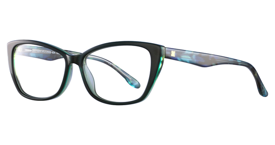 Odeya Eyeglasses, Berry Laminate