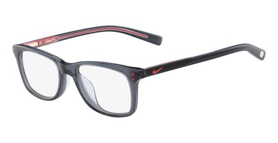 NIKE 4KD Eyeglasses, (070) Anthracite/University Red