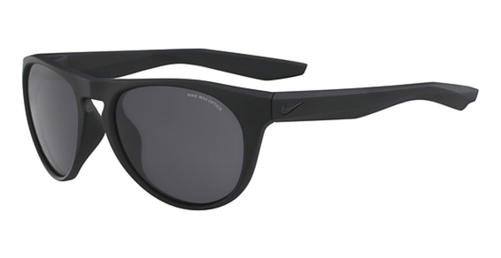 NIKE ESSENTIAL JAUNT EV 1008 Eyeglasses, (001) Matte Back W/Dark Grey Lens