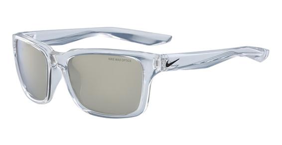 NIKE ESSENTIAL SPREE R EV 1004 Eyeglasses, (900) Clear W/Grey Super Flash Lens