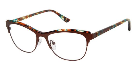 Image of 1007 Eyeglasses, BROWN TEAL TORT