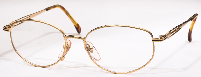 855 Eyeglasses, Shiny Gold C13