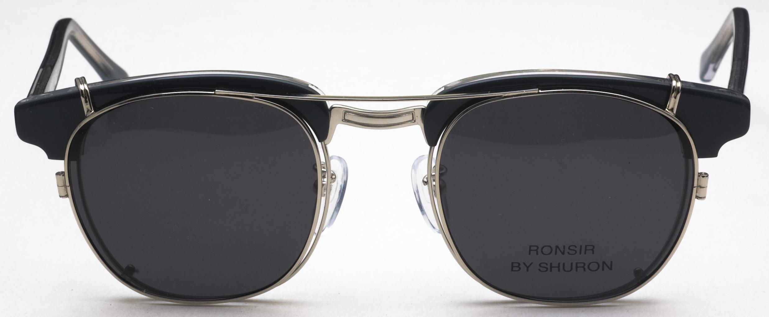 567e09a670ec $130 - Ronsir CLIP ON Polarized Sunglasses, Silver with Grey Lenses ...